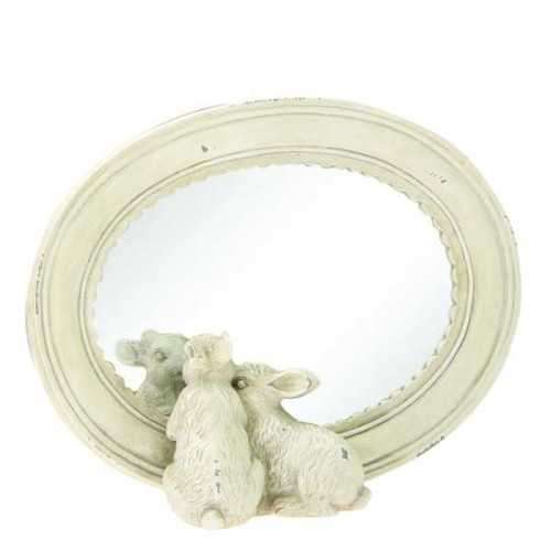 Mirror Two Bunnies Cream DécorHome DecorationsMirrors