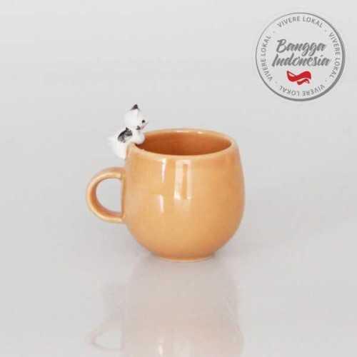 Mug Cat Black White Orange DécorHome DecorationsDecorative Objects