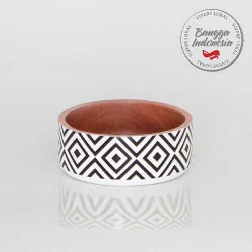 Deco Bowl Tetragon White Black KitchenDining Table AccessoriesBowls