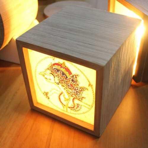 Wayang Lamp Wolak Walik Cube LightingInterior LightingTable Lamps