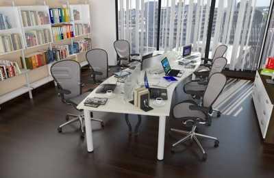 Wave Shaped Staff Desking  OfficeOffice Desks