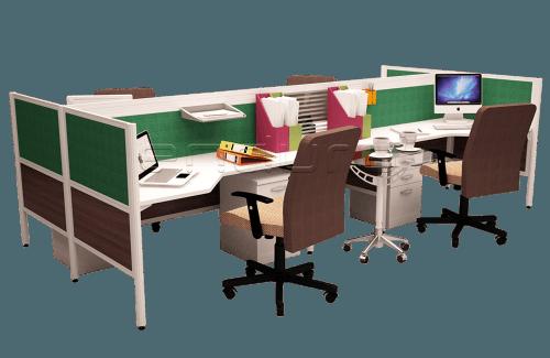 Slimmo 4 Staff Workstation OfficeOffice Desks