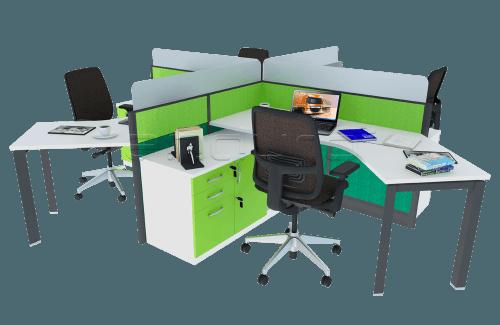 Foto produk  4 Staff Workstation With Triangle Leg di Arsitag
