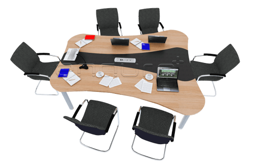 Foto produk  Curve Shaped Meeting Table With Elasto Leg di Arsitag