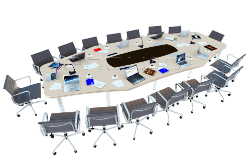 Foto produk  Octagon Shaped Meeting Table With Elasto Leg di Arsitag