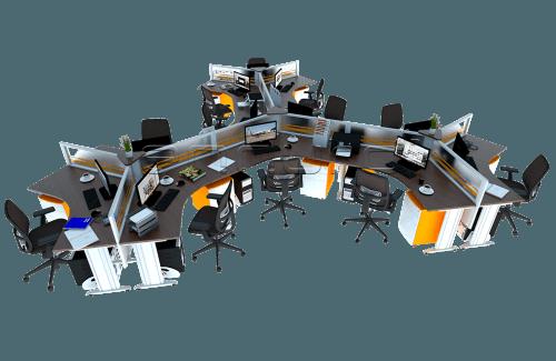 Unique Y Shaped Desking With Slimmo Leg OfficeOffice Desks
