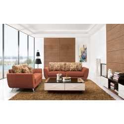 Fabric Sofa-1+2+3 Sofa(Hd2092Rust) FurnitureSofa And ArmchairsSofas