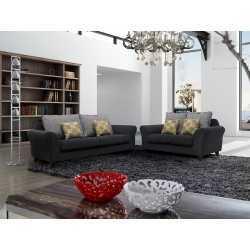 Fabric Sofa-1+2+3 Sofa(Hd 2117 Grey) FurnitureSofa And ArmchairsSofas