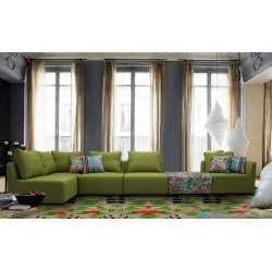 Fabric Sofa-L-Shape(Hd 2013 (Apple Green) FurnitureSofa And ArmchairsSofas