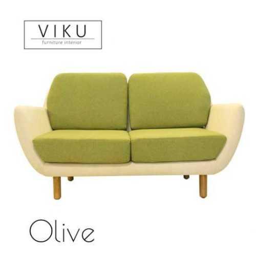 Sofa 2 Seater-Olive FurnitureSofa And ArmchairsSofas