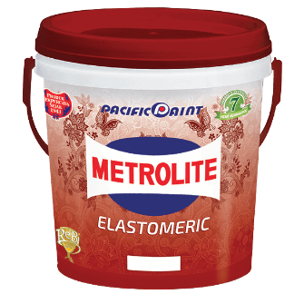Produk Dekoratif Exterior-Metrolite Elastomeric ConstructionPaints And VarnishesWater Repellent Water-Based Paints