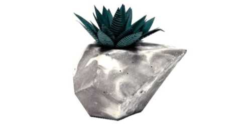 Foto produk  Diamond Concrete Pot With Paper Succulent di Arsitag