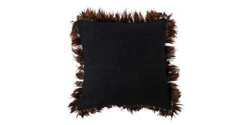Fray Cushion Cover Black DécorTextiles And RugsCushions