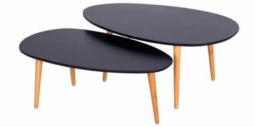 Jobi 4 Seater Living Set Black Vienna FurnitureSofa And ArmchairsSofas