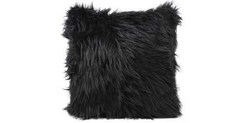 Fur Cushion Square Black DécorTextiles And RugsCushions