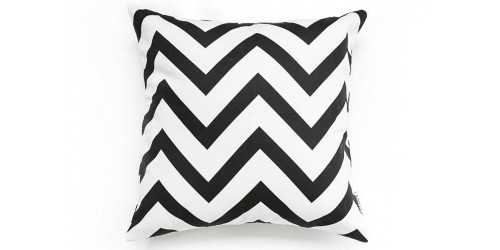 Square Chevron Cushion Black DécorTextiles And RugsCushions