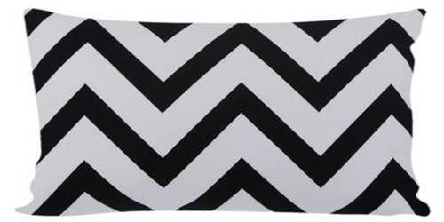Long Chevron Cushion Black DécorTextiles And RugsCushions