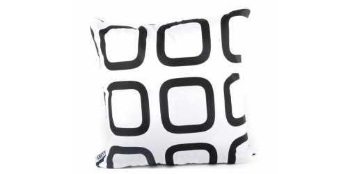 Square B Cushion Black DécorTextiles And RugsCushions