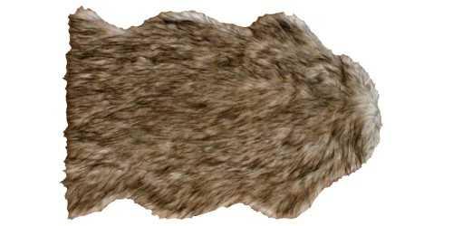 Foto produk  Faux Fur Rugs Brown di Arsitag