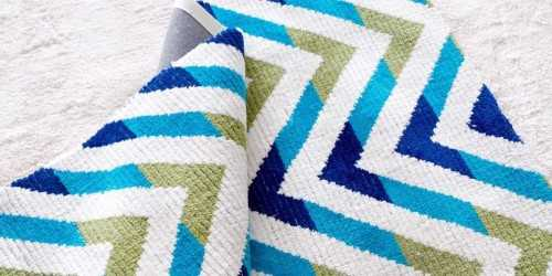 Zigzag Rug White & Blue Medium DécorTextiles And Rugs