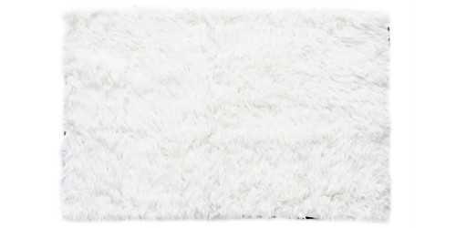White Square Fur Rug Medium DécorTextiles And Rugs