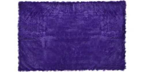 Purple Square Fur Rug Small DécorTextiles And Rugs