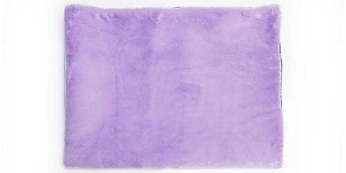 Lavender Square Fur Rug Large DécorTextiles And Rugs