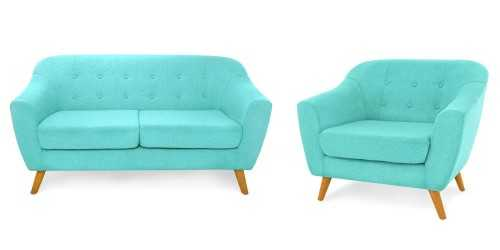 Jobi Sofa Set Teal Vienna FurnitureSofa And ArmchairsSofas