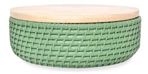 Wick Bowl Green Set Of 2 DécorStorage And Space Organization
