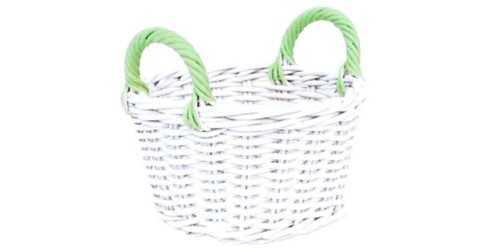 Round Spring Basket Green DécorStorage And Space Organization
