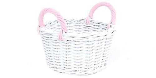 Round Spring Basket Pink DécorStorage And Space Organization