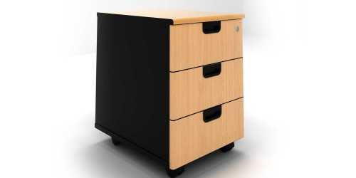 One Working Side Table Type A Wood Leather OfficeOffice Storage Units