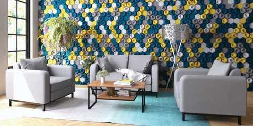 Elis Coltrane Living Room Set Graphite Vienna FurnitureSofa And ArmchairsSofas