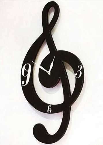 G Clef Note Wallclock DécorHome Decorations