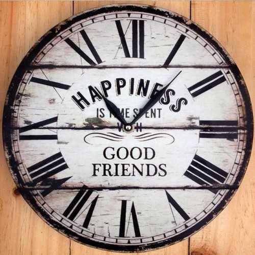 Happines Wallclock DécorHome Decorations