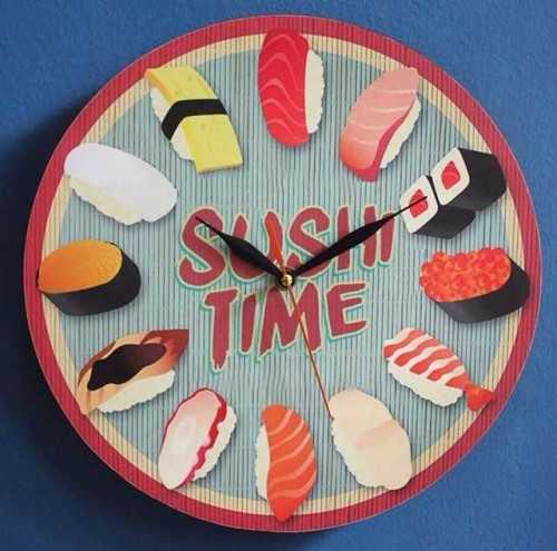 Sushi Time Wallclock DécorHome Decorations