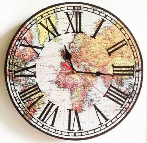 World Map Wallclock DécorHome Decorations