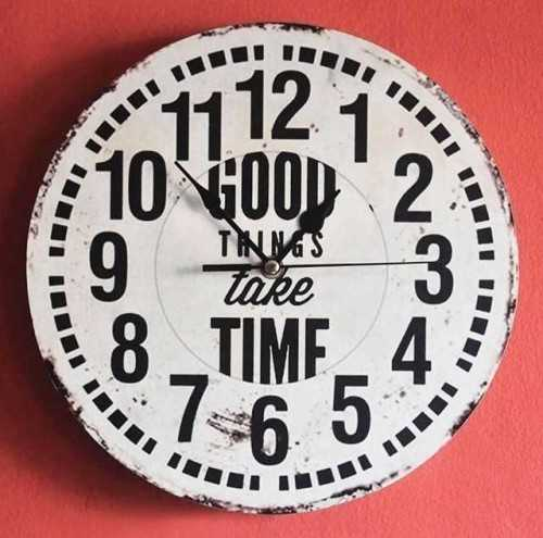 Foto produk  Good Things Take Time - Wallclock di Arsitag