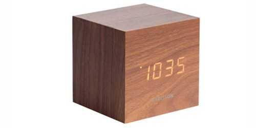 Woody Cubic Alarm Clock DécorHome Decorations