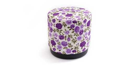 Jabba Ottoman Flower Blue FurnitureTables And ChairsStools