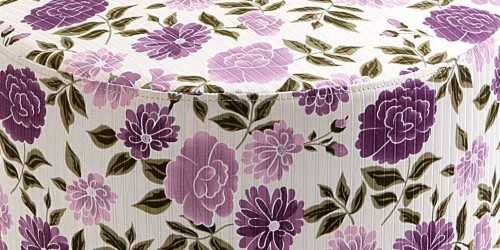 Jabba Ottoman Flower Purple FurnitureTables And ChairsStools
