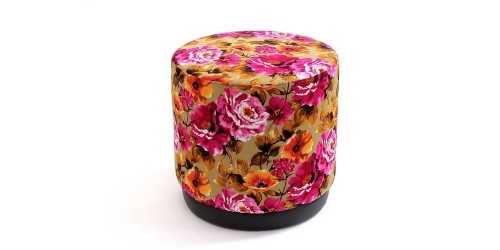Jabba Ottoman Flower Orange FurnitureTables And ChairsStools