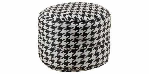Domino Beanbag Drum Black FurnitureSofa And ArmchairsPoufs