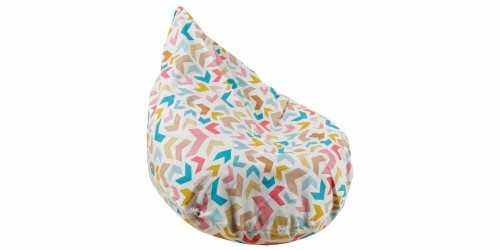 Chevron Beanbag Teardrop White FurnitureSofa And ArmchairsPoufs
