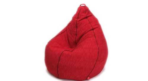 Diamante Beanbag Tenun Cherry Red FurnitureSofa And ArmchairsPoufs