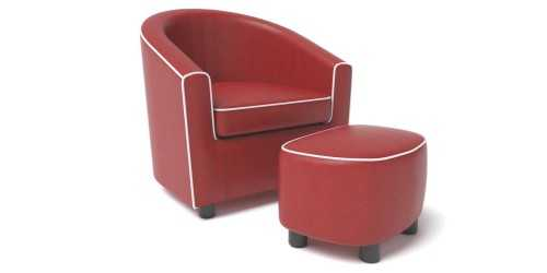 Allison Kids Armchair Maroon FurnitureSofa And ArmchairsArmchairs