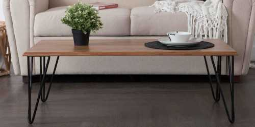 Iris Coffee Table Natural Finish FurnitureTables And ChairsCoffee Tables