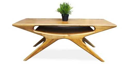 Elissa Coffee Table Natural Finish FurnitureTables And ChairsCoffee Tables