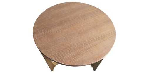Trieste Round Coffee Table Natural Finish FurnitureTables And ChairsCoffee Tables