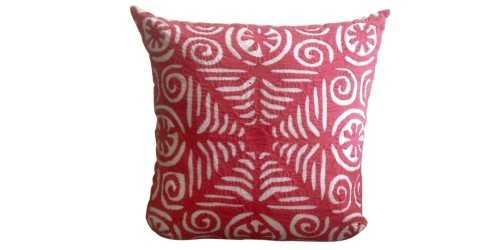 Foto produk Textiles And Rugs Aplique Cushion Motif 2 Red di Arsitag